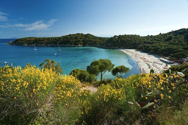 Le spiagge dell'arcipelago toscano: Elba, Capraia, Giglio.