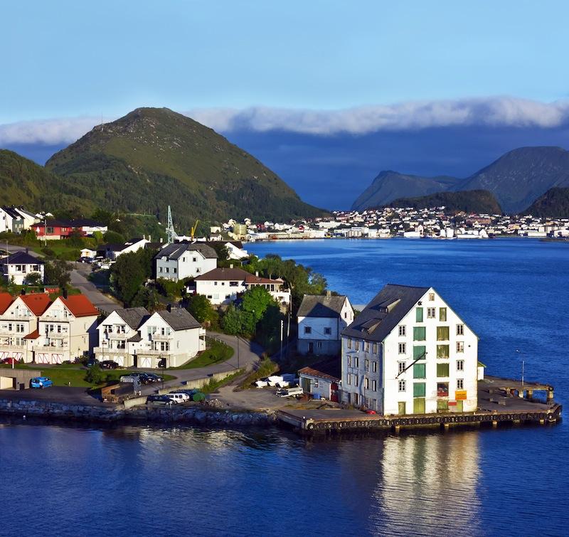 Alesund in Norwegian fjords