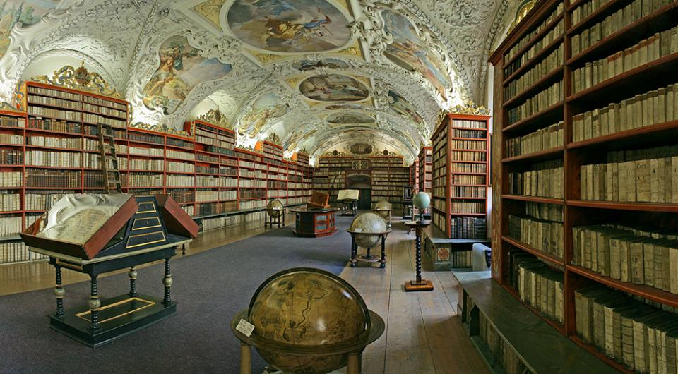 Baroque library Prague