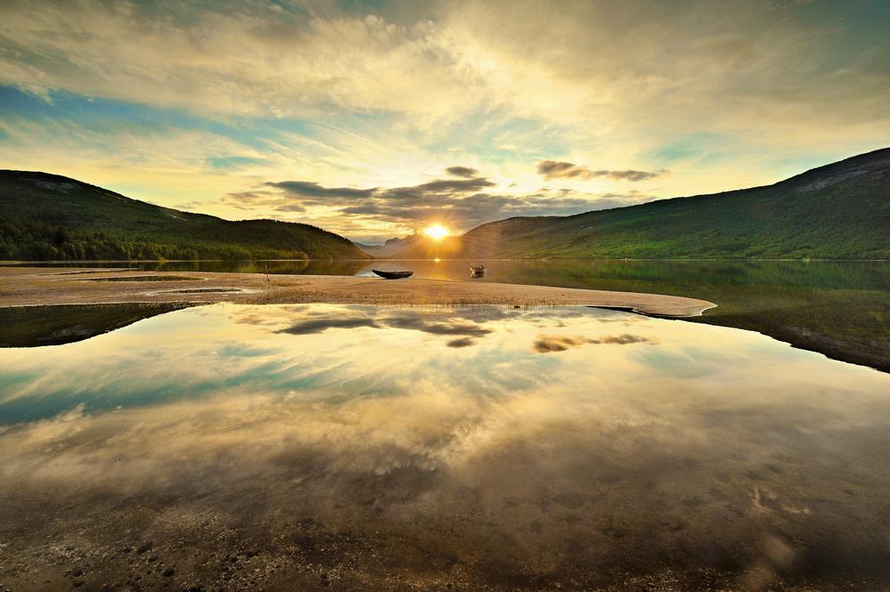 Beautiful rural landscape deep in norwegian mountains