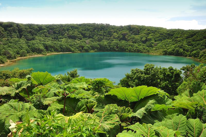 Blu lake in Poas National Park Costa Rica
