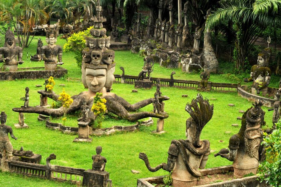 Buddha park in Vientiane_Laos