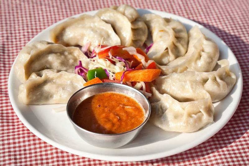 Buon pranzo in Nepal Nepalese traditional dumpling momos