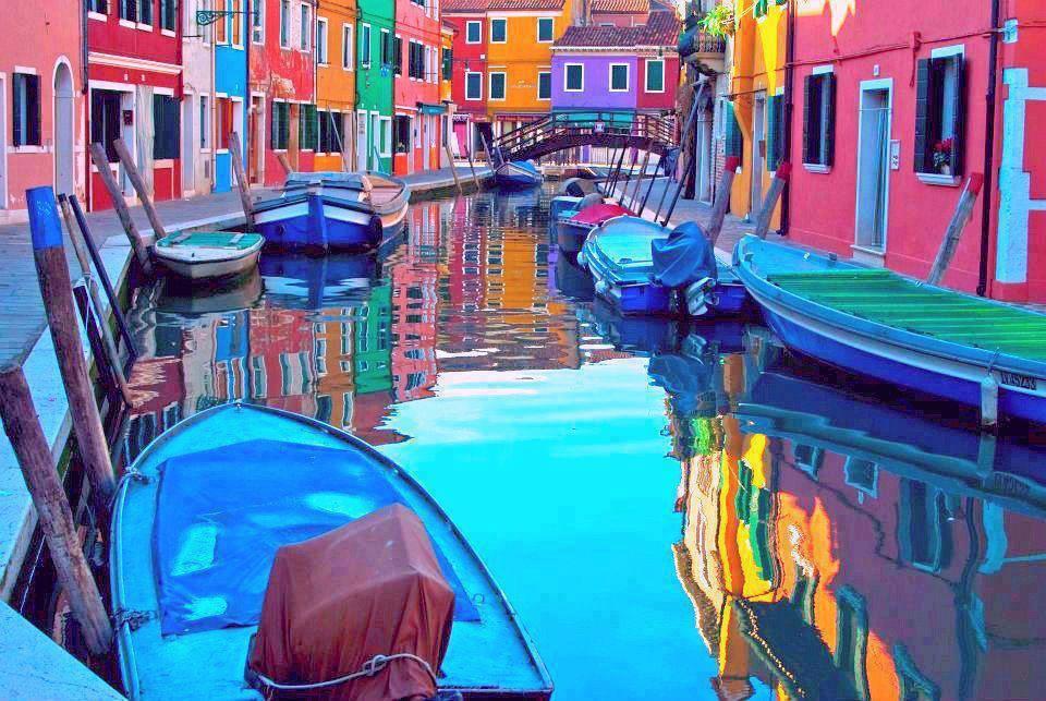 Burano island canal Venezia