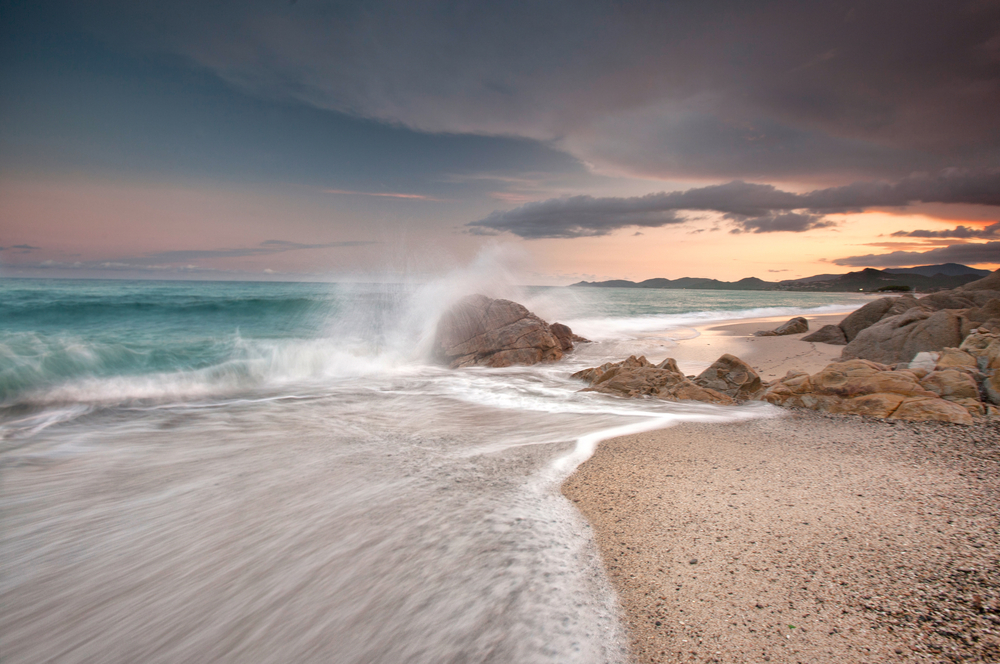 Cala Liberotto Sardinia Italy sundown