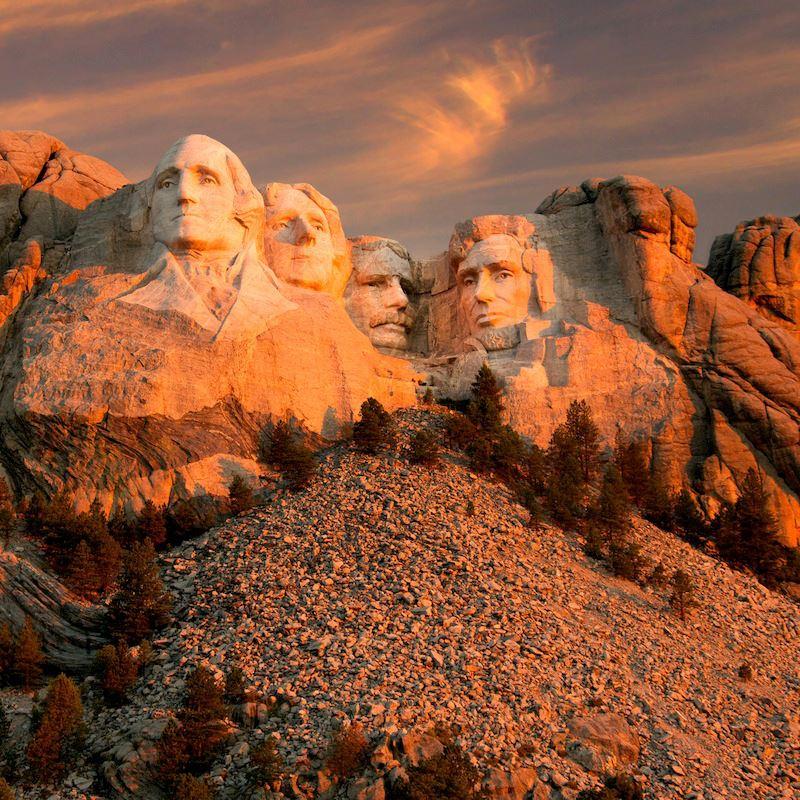 Cartolina dal Mount Rushmore National Memorial Buon giorno Dakota del Sud