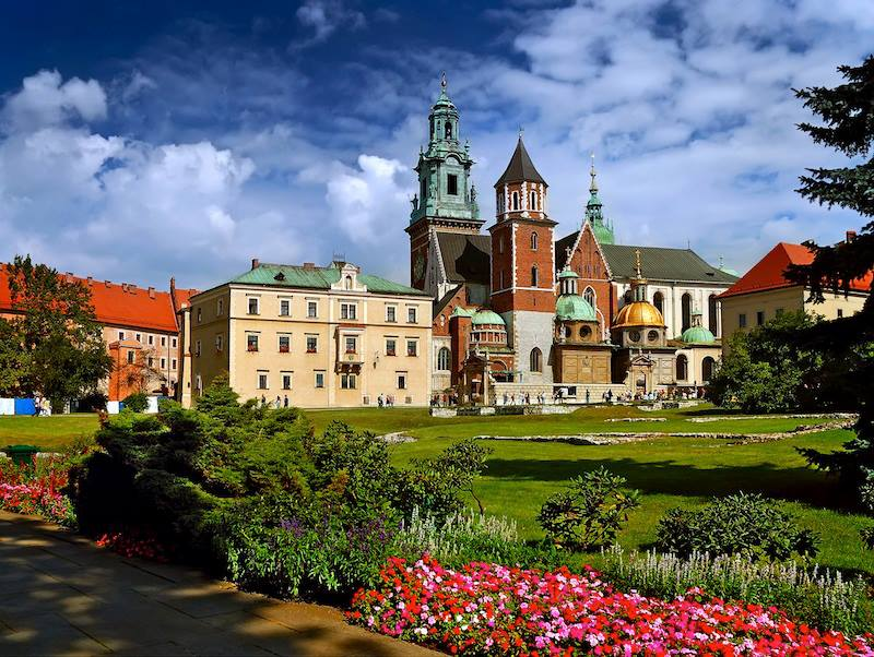 Castle in the old city of Krakow Polonia