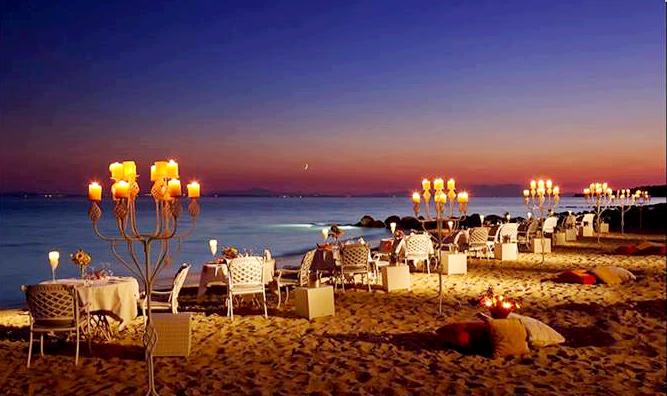 Cena sulla spiaggia di San Andres Providencia Colombia