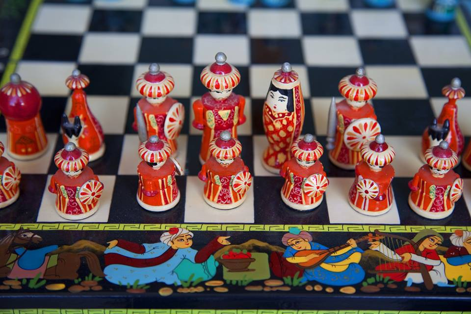 Chess table in Uzbekistan