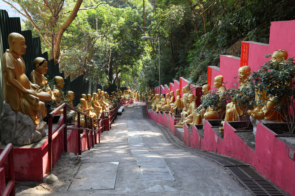 Chi Lin Nunnery 89and Chinese garden landmark in Hong Kong