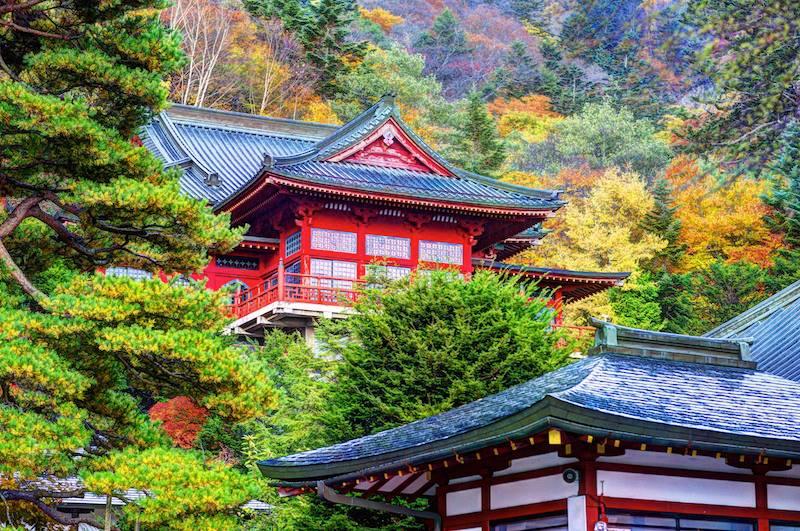 Chuzen ji Temple in Nikko Tochigi Japan
