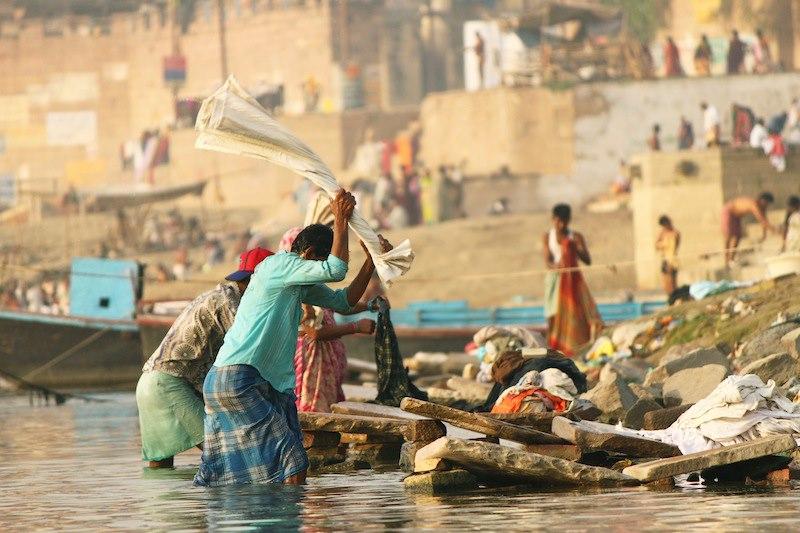 Dhobi Ghat Varanasi India
