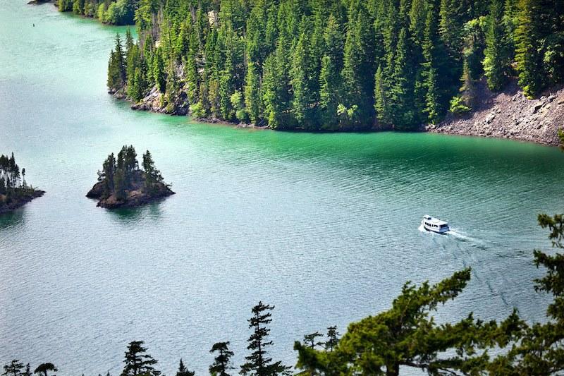Diablo Lake Boat North Cascades National Park Washington Pacific Northwest