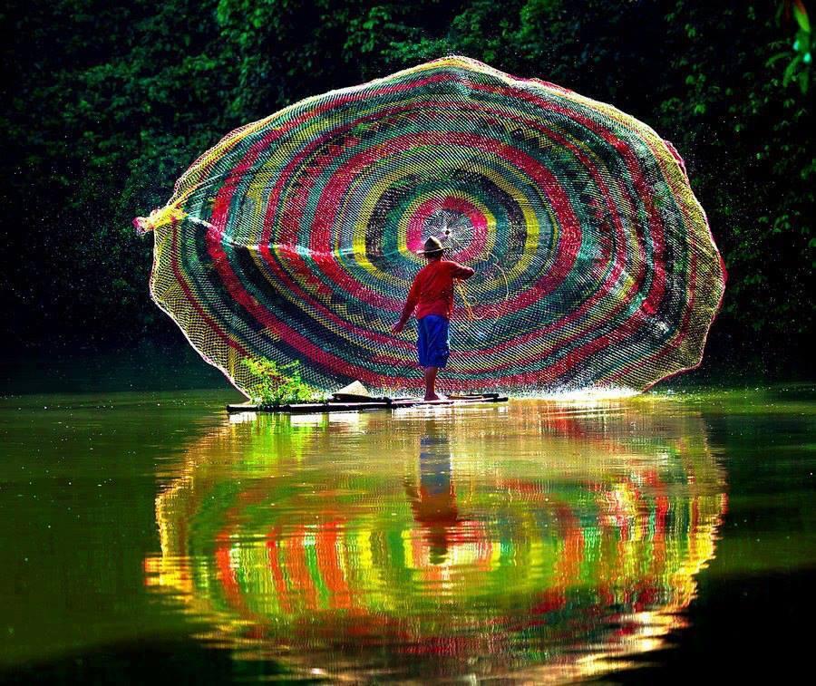 Fishermen in Laos
