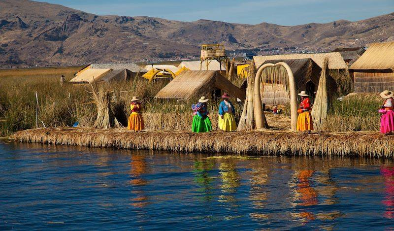 Floating islands of the Uros Lake Titicaca Perù 3856 m