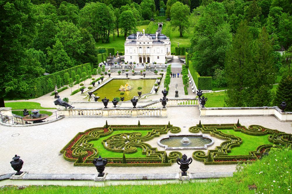 Gardens surrounding Linderhof Palace