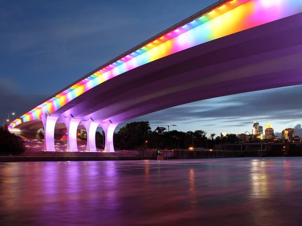 Highway 35W bridge over Mississippi river in Minneapolis Minnesota