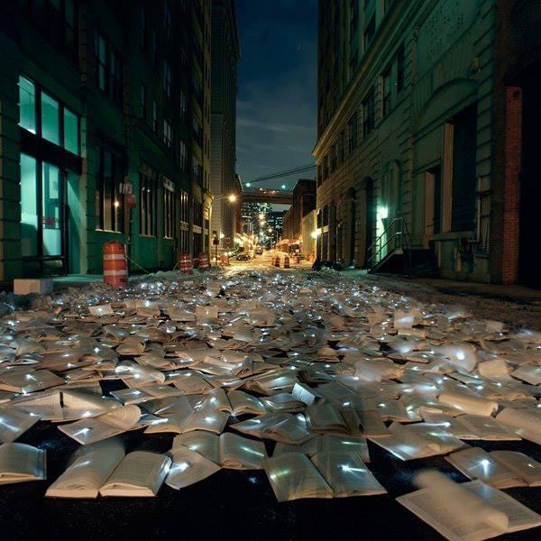 I libri fermano il traffico a New York