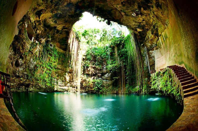 Ik kil Cenote Chichen Itza Messico_n