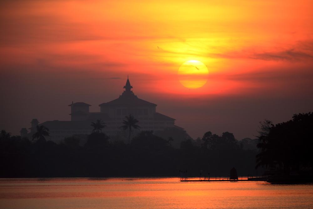 In ya Lake Yangon Myanmar