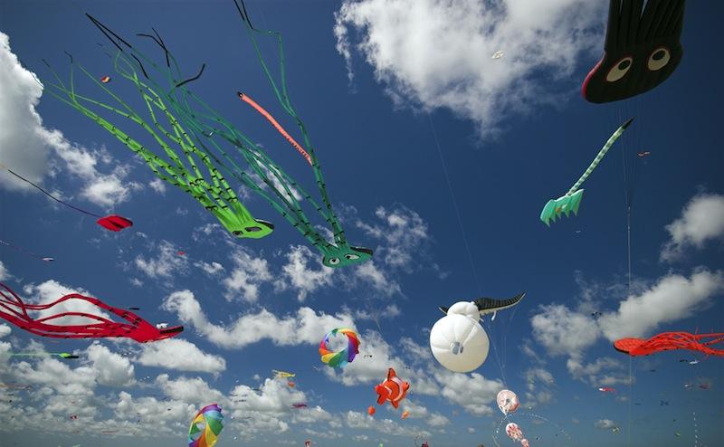 Kite Flying Festival on Fanoe Denmark