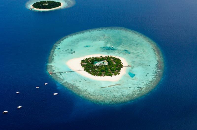 Locchio dellOceano Indiano Island Eye Maldive