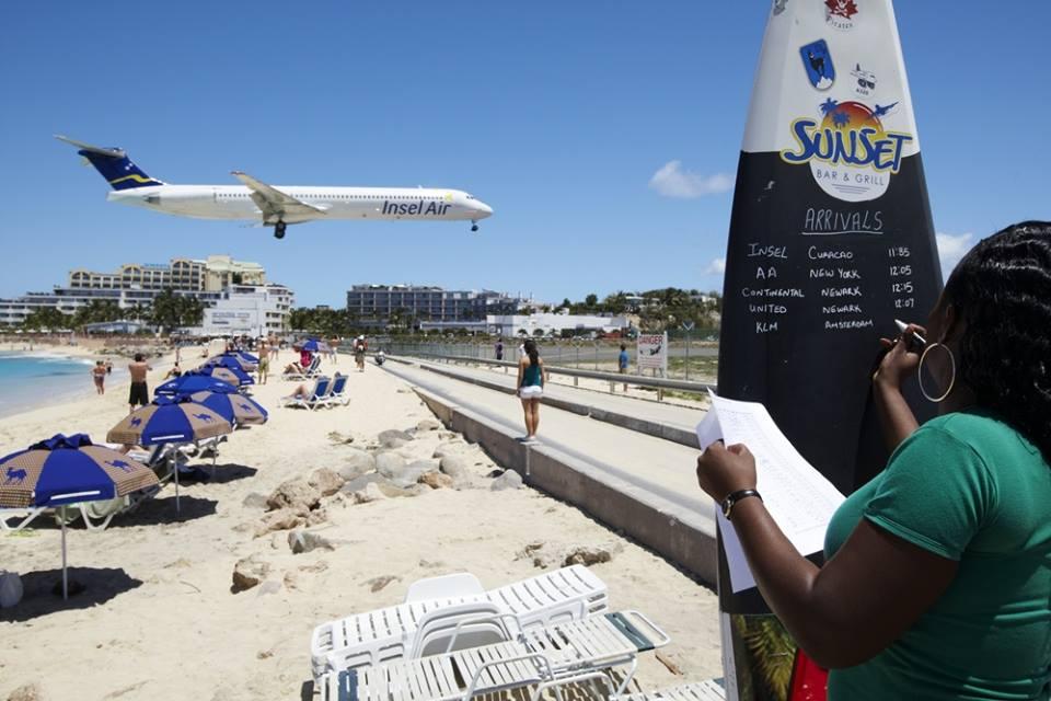 Maho beach near 0Princess Juliana International Airport