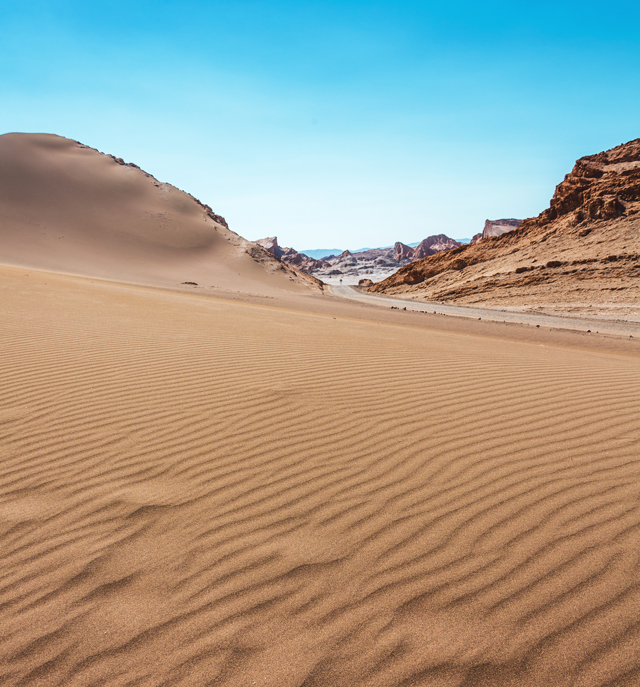 Moon Valley in Atacama Desert Chile
