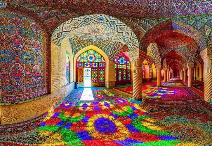 Nasir Al Mulk Moschea Shiraz Iran