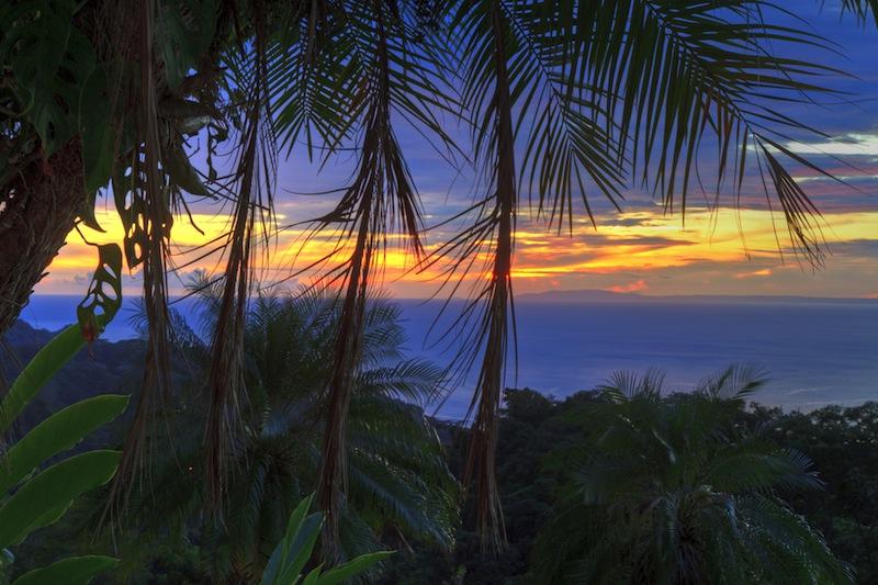 Nicoya Peninsula at sunset near Tarcoles Costa Rica