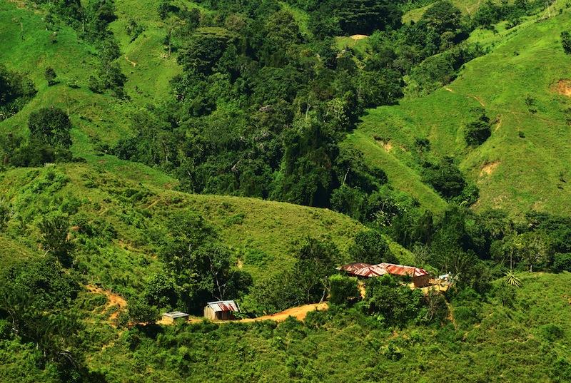 North Colombian Sierra Nevada close to Santa Marta