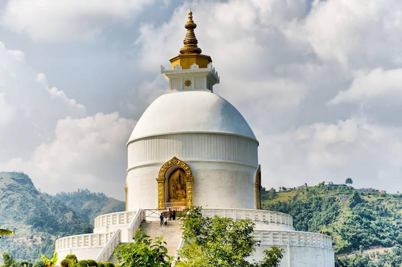Pagoda in Pokhara Nepal