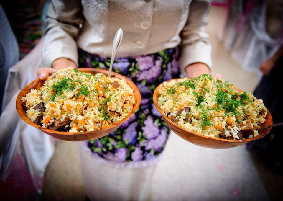 Pilau traditional uzbek dish