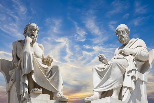 Platone Academy of Athens Greece Socrate e Platone