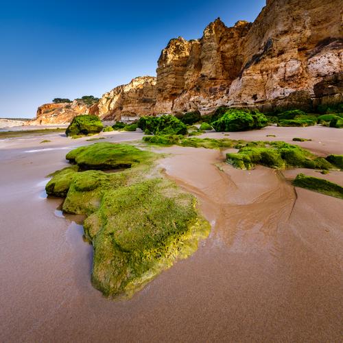Porto de Mos Beach in the Morning Lagos Algarve Portugal
