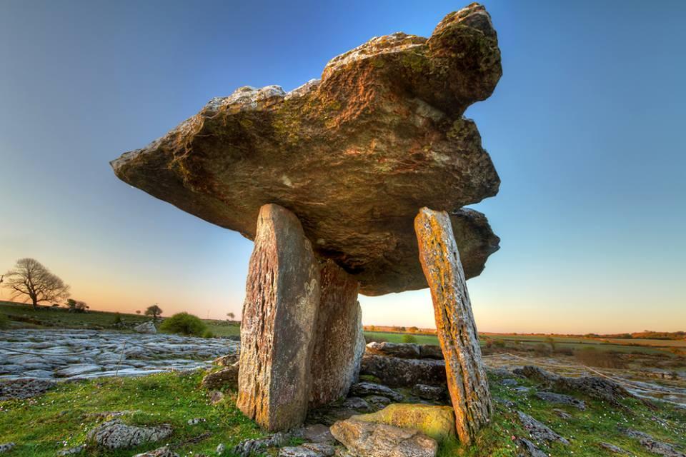 Poulnabrone Dolmen the Burren Co Clare Ireland