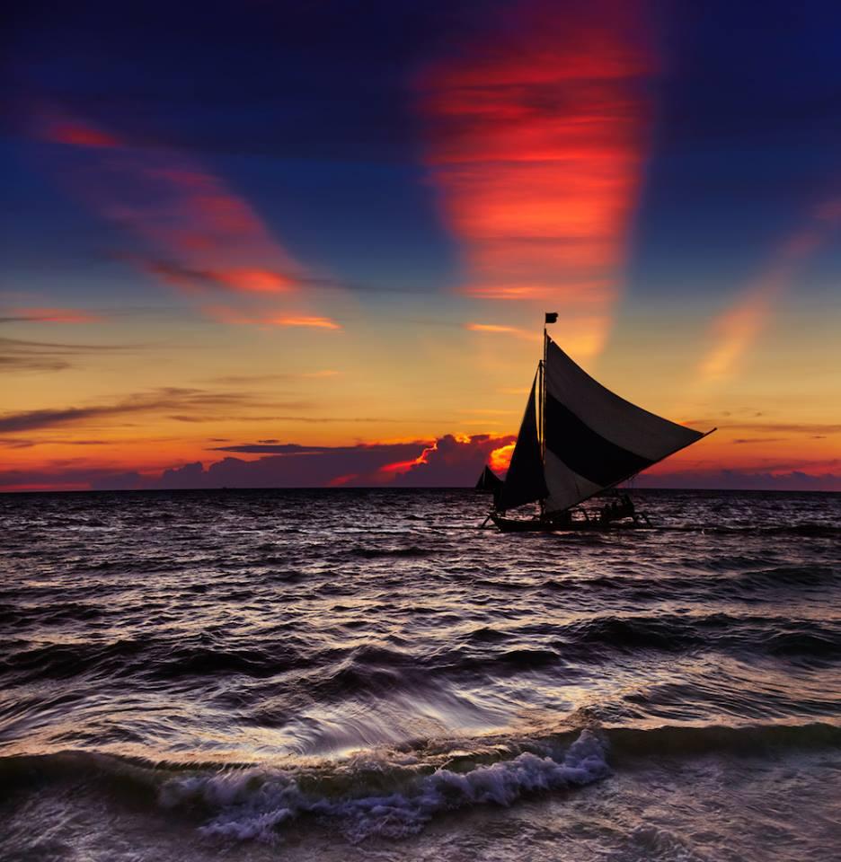 Rarotonga Island barca