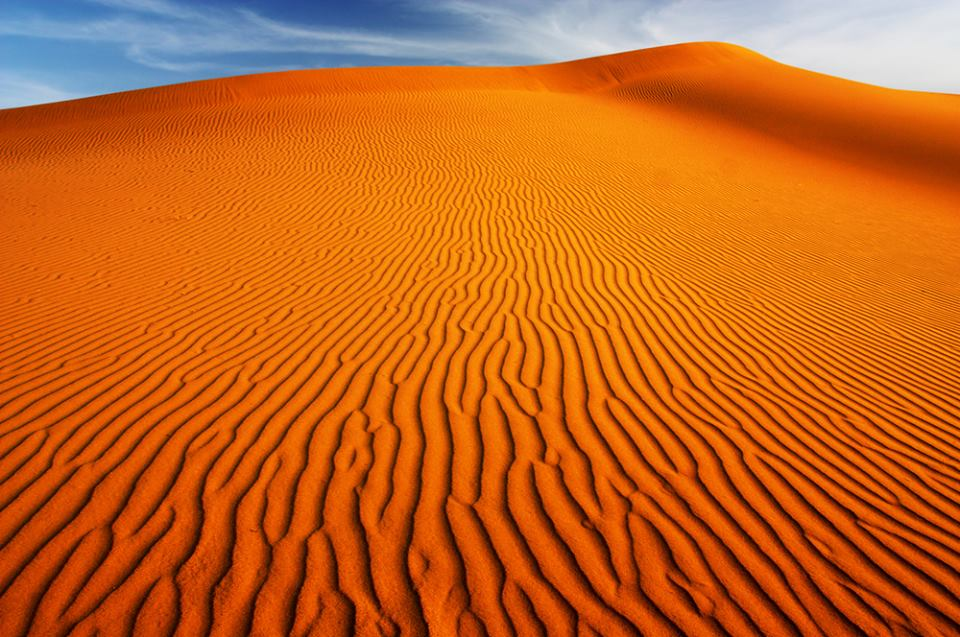 Red desert Uzbekistan