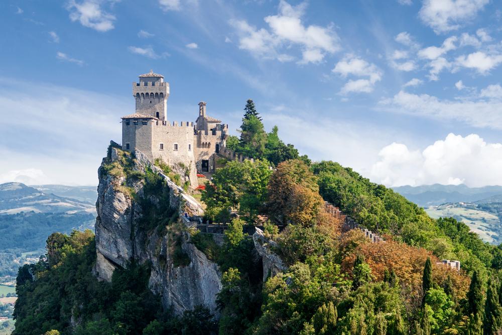 San Marino second tower the Cesta or Fratta 1 emilia romagna