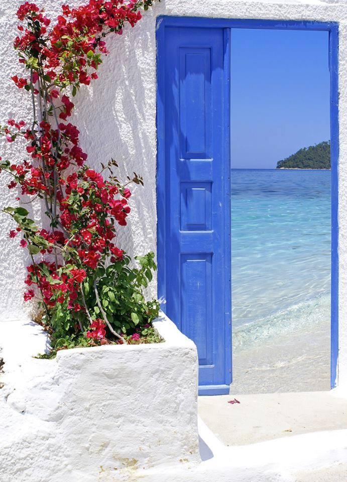 Santorini island porta