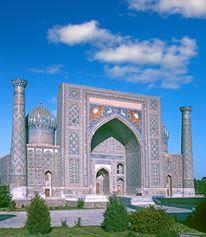 Sher dor Madrassah Samarkand Uzbekistan World Heritage Site by UNESCO