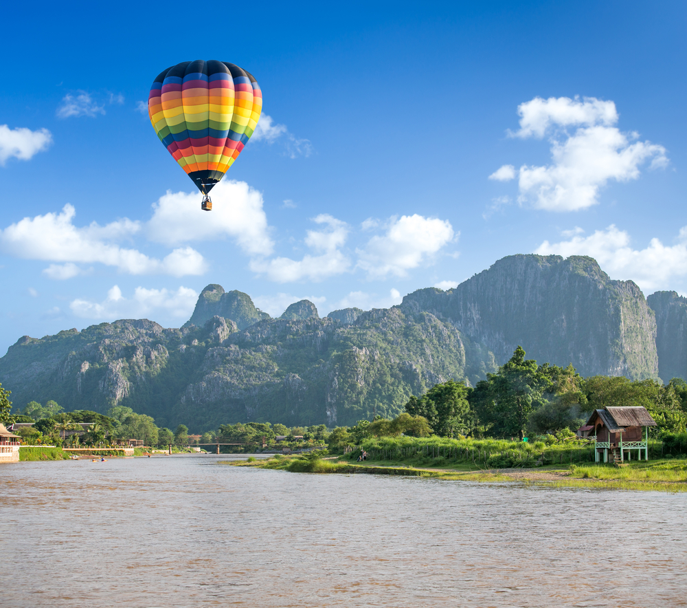 Song river VangVieng Laos