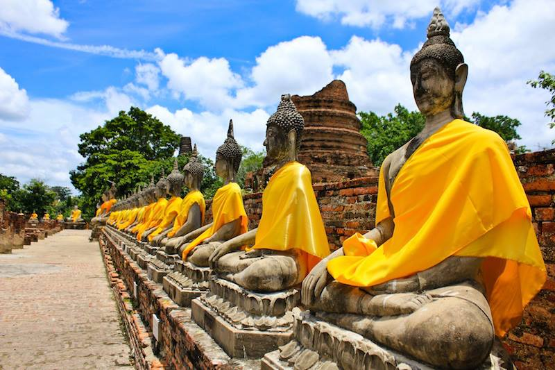 Stone Statue Of A Buddha In Thailand