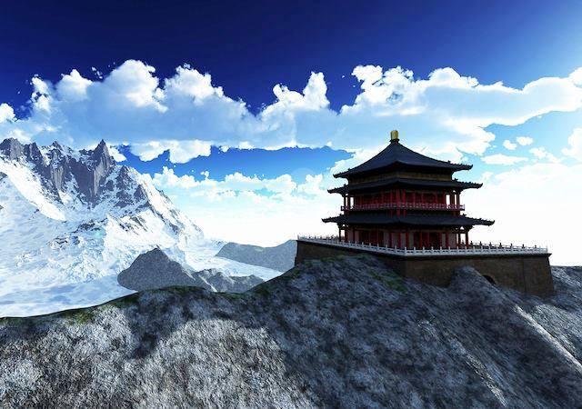 Sun Temple Buddhist Himalaya