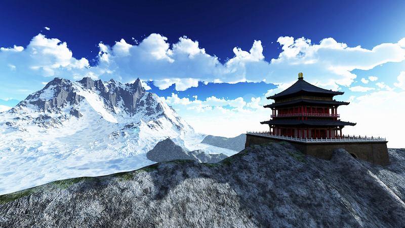 Sun temple Buddhist Himalayas152_n