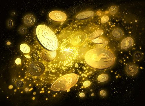 a coin in the air monete