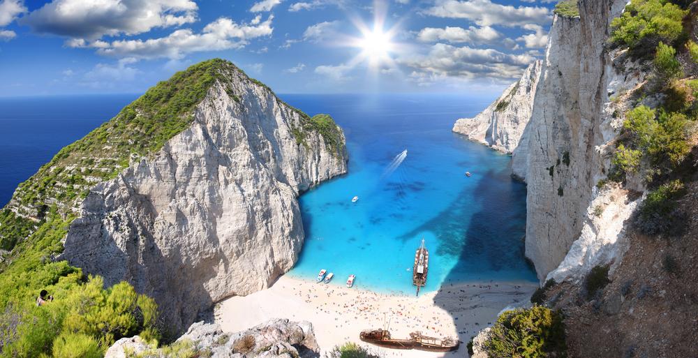 beach Navagio in Zakynthos Greece