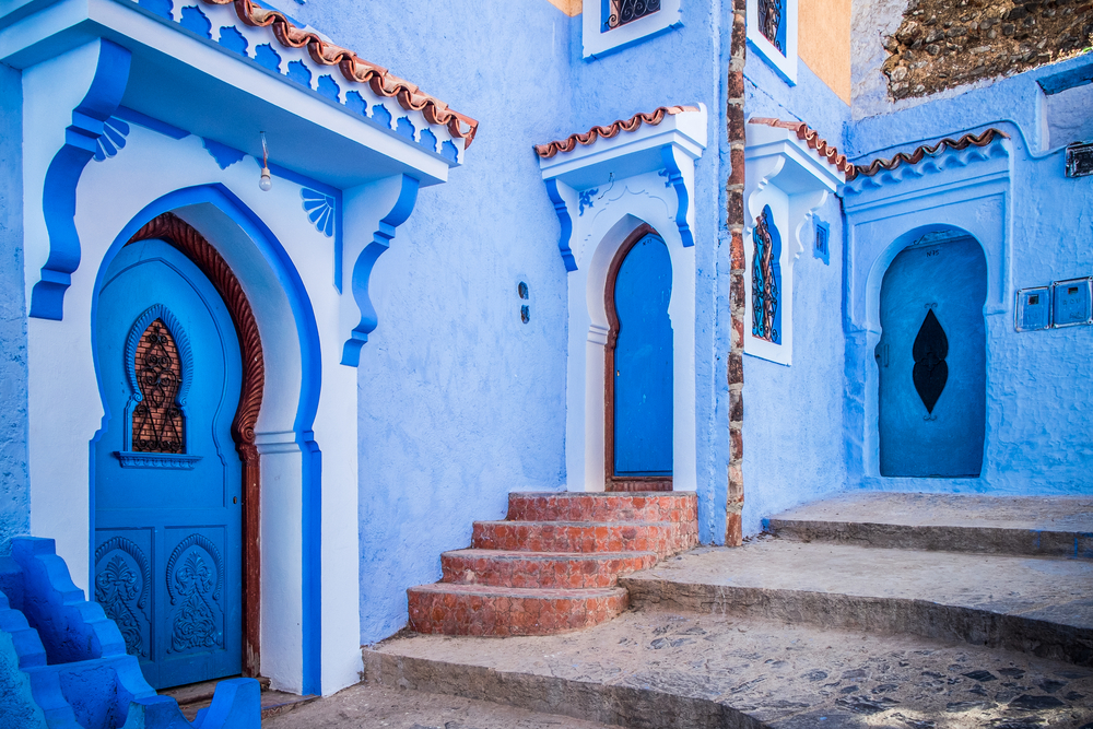 blue medina of Chefchaouen in Morocco