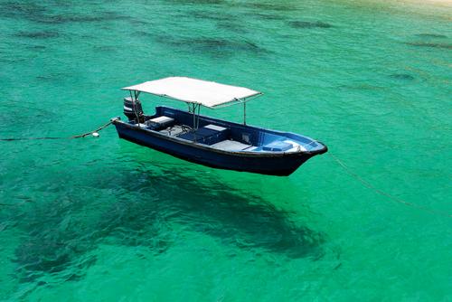 boat at Tioman island Malaysia