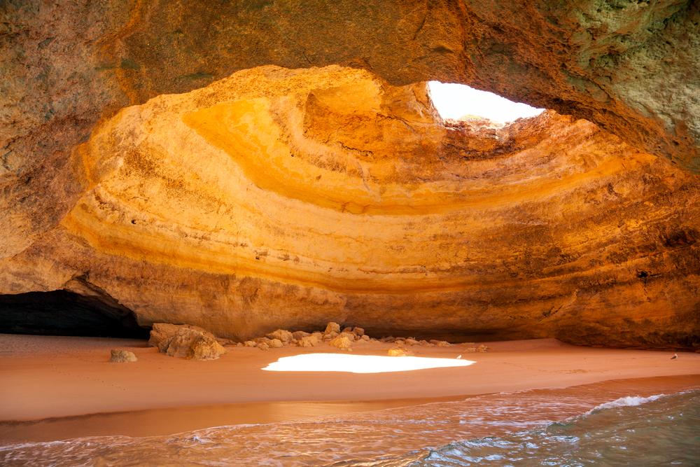 cave at Benagil beach in Algarve Portugal
